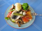 picture of plate fish food  - Greek fast food  - JPG