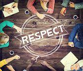 stock photo of honesty  - Respect Honesty Honorable Regard Integrity Concept - JPG