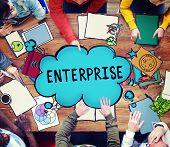 picture of enterprise  - Enterprise Company Corporation Business Project Concept - JPG