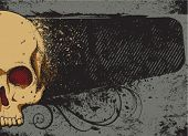 Постер, плакат: Череп и рама
