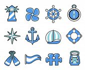 stock photo of torchlight  - nautical icon set - JPG