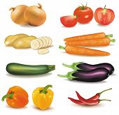 stock photo of food groups  - The big colorful group of vegetables - JPG