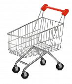 image of cart  - Vector illustration of a shopping cart on the white - JPG