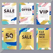 Creative Luxury Abstract Social Media Web Banners For Cell Phone Or Newsletter Ad. Email Promotion O poster