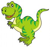 stock photo of tyrannosaurus  - Cartoon tyrannosaurus rex  - JPG