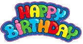 foto of happy birthday  - Happy birthday sign  - JPG