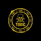stock photo of chemical weapon  - toxic vector rubber stamp - JPG