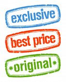 Set of stamps for exclusive sales under the best price