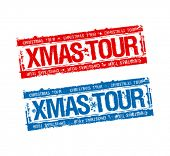 Christmas tour stamps set.