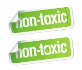 stock photo of non-toxic  - Non toxic product stickers set - JPG