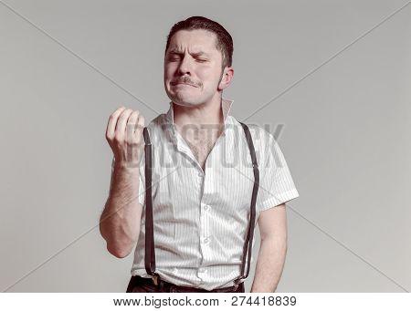 Gangsta Italian Man Posing Asking