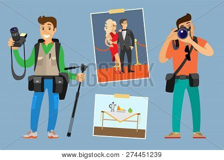 Poster: Photographers With Digital Cameras Or