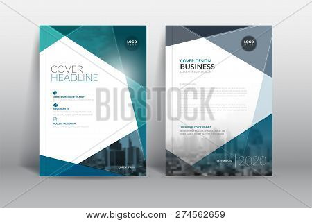 poster of Cover Design Template, Annual Report Cover, Flyer, Presentation, Brochure. Front Page Design Layout