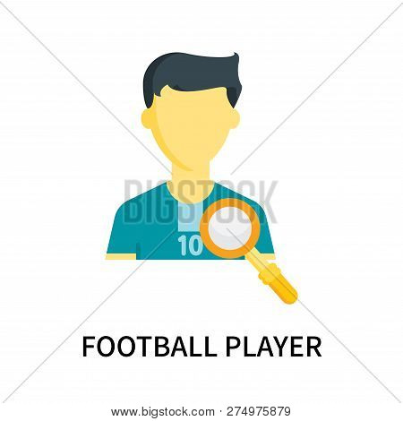Football Player Icon Isolated On