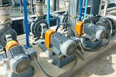 Electric Motors Driving Water Pumps Of Waste Water Treatment System, Urban Modern Treatment Faciliti poster