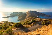 Southern Greece Mani Peninsula. Sea Landscape Rocky Coastline, Peloponnese. poster