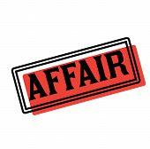 Affair Advertising Sticker, Label, Stamp On White poster
