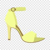 Woman Sandal Icon. Flat Illustration Of Woman Sandal Vector Icon For Web Design poster