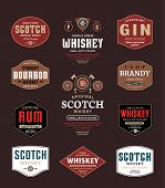 Alcoholic Drinks Labels poster