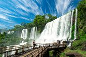 View Of Iguazu Falls, One Of The Seven New Wonders Of Nature, In Brazil And Argentina poster