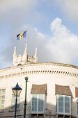 Parliament Building Gothic Architecture Flag Bridgetown Barbados