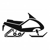 Expedition Snowmobile Icon. Simple Illustration Of Expedition Snowmobile Vector Icon For Web Design  poster
