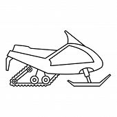 Expedition Snowmobile Icon. Outline Expedition Snowmobile Vector Icon For Web Design Isolated On Whi poster