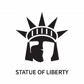 Statue Of Liberty Icon Isolated On White Background. Statue Of Liberty Icon Simple Sign. Statue Of L poster