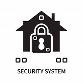 Security System Icon Isolated On White Background. Security System Icon Simple Sign. Security System poster
