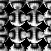 Seamless Halftone Pattern With 3d Balls. Vector Halftone Dots Background For Design Banners, Posters poster