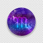 Astrological Symbol Of Scorpio. Abstract Vector Shiny Western Zodiac Horoscope Sign poster
