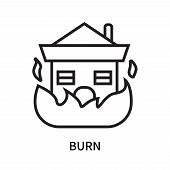 Burn Icon Isolated On White Background. Burn Icon Simple Sign. Burn Icon Trendy And Modern Symbol Fo poster