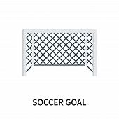 Soccer Goal Icon Isolated On White Background. Soccer Goal Icon Simple Sign. Soccer Goal Icon Trendy poster
