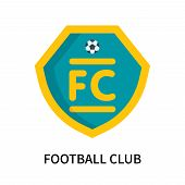 Football Club Icon Isolated On White Background. Football Club Icon Simple Sign. Football Club Icon  poster