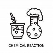 Chemical Reaction Icon Isolated On White Background. Chemical Reaction Icon Simple Sign. Chemical Re poster