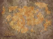 picture of treasure map  - A photo of a treasure map background - JPG