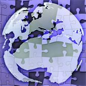 Map Of Europe Jigsaw poster