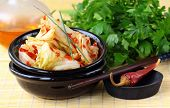 stock photo of kimchi  - Korean cabbage kimchi  - JPG