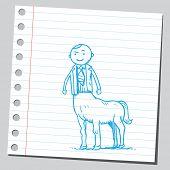 picture of centaur  - Centaur businessman - JPG