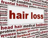 picture of alopecia  - Hair loss message background - JPG