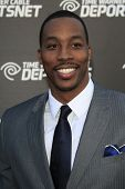 LOS ANGELES - OCT 30:  Dwight Howard arrives at the Time Warner Sports Launch of TWC Sportsnet at TW