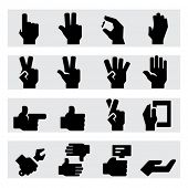 stock photo of shacks  - Hands Icons Two - JPG