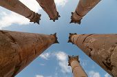 stock photo of artemis  - Temple of Artemis in Jerash the Gerasa of Antiquity - JPG