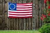 foto of betsy ross  - 13 Star American flag - JPG