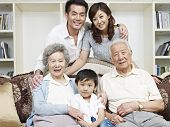 picture of korean  - home portrait of a three - JPG
