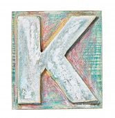 stock photo of letter k  - Wooden alphabet block - JPG