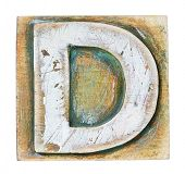 pic of letter d  - Wooden alphabet block - JPG