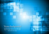 Abstract blue hi-tech background. Vector design eps 10