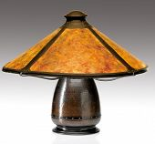 pic of mica  - Table Lamp with Mica Shade and Copper Base - JPG