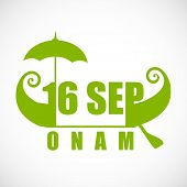 stock photo of onam festival  - South Indian festival Onam wishes background - JPG